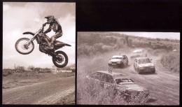 Moldova 2015, Motorbikes Cars Motocross Autocross , Set Of 2 Postcards - Moldova