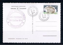 Congrès Du Parlement, Versailles, 21/10/1974,  Voir Les 2 Scans - Gedenkstempels