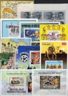 #21 Geburtstags-Kalender 9 Motiv-Blocks 75€ Natur Gemälde Topics Bloque Sport Hoja Blocs S/s Art Sheets Bf Birthday - Sonstige (Land)