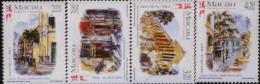 E) 1990 MACAU, ARCHITECTURE, ART PAINTING SET, MNH - 1999-... Chinese Admnistrative Region