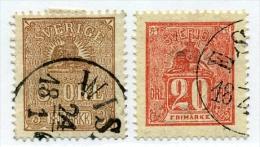 3 Et 20  øre   Armoirie, 12 Et 15 Ø, Cote 55 €,   Bon Centrage - Suède