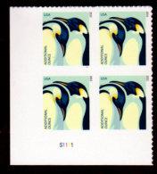USA 2015, Scott #4989, Penguins, Additional Ounce (22c), Plate Block, LL, MNH, VF