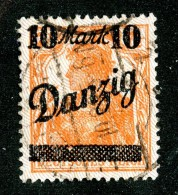 5269 Y Danzig 1920  Michel # 46 I (o) ( Cat. €20. ) - Danzig