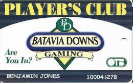 Batavia Downs NY Player´s Club Slot Card - Casino Cards