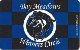 Bay Meadows San Mateo CA Winners Circle Slot Card - Casino Cards