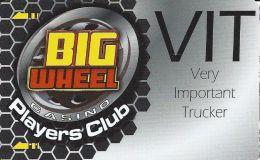 Big Wheel Casino Lovelock NV Slot Card - Casino Cards
