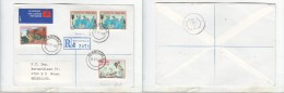 South Africa, 1986,   Registered Air Mail BONNIEVALE > WOUW Netherlands, - Covers & Documents