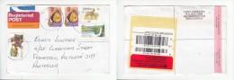 South Africa, 2002   Registered Air Mail EDGEMEAD > Australia, ( : R7 X 2. Airmail Postacard X2, 70c )) - Covers & Documents