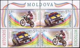 "Moldova 2015 "" Motocross.Autocross "" 2v Zd MNH** - Motorbikes"