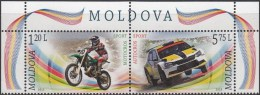 "Moldova 2015 ""Motocross. Autocross."" 2v Zd  MNH ** - Motorbikes"