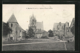 CPA Durtal, Eglise Et Vieux Chateau - Durtal