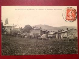 69 Rhone St SAINT JULIEN Chateau Et Hameau Du Jonchy + Ambulant MONSOLS à VILLEFRANCHE SUR SAONE - Frankrijk