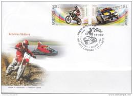 "Moldova 2015 FDC "" Motocross.Autocross "" Quality 100% - Cars"