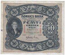 Norvège, 50 Kroner Type 1901 - Noruega