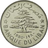 Monnaie, Lebanon, Livre, 1980, FDC, Nickel, KM:E15 - Liban
