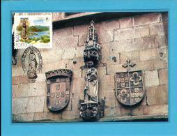 BRAGA - N.ª Senhora Do Leite - MAXIMAFILIA TURISMO - 17.09.1980 - PORTUGAL - CARTE MAXIMUM - MAXICARD - Maximum Cards & Covers