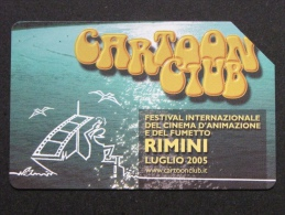 494 GOLDEN EURO - CARTOON CLUB RIMINI CINEMA FUMETTO - USATA PERFETTA - Public Advertising