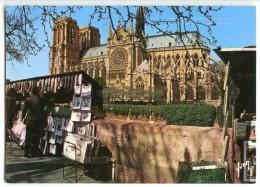 PARIS - Notre-Dame Et Les Bouquinistes-des Quais - écrite (jeu-concours) Et Timbrée - 2 Scans - Notre Dame De Paris