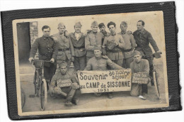 CARTE PHOTO Camp De SISSONNE Militaires Régiments Service Réservistes Militaire Militaria 1931 - Sissonne