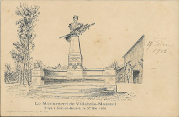 Cp Precurseur -    GREZ En BOUERE Monument De Villebois Mareuil    4 - Unclassified
