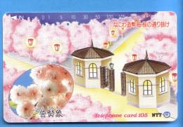 Japan Japon Telefonkarte Télécarte Phonecard  -  NTT Nr. 330 - 257 - Fleurs