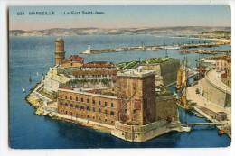 MARSEILLE - Le Fort Saint-Jean - Colorisée Non écrite - 2 Scans - Marseille