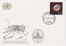 United Nations Show Card 2013 ´Sbératel´ - September 2013 - With Mi 789 Space: Nebulae - Centre International De Vienne