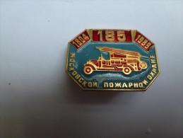 Broche  Russe ( No Pin´s ) , Pompiers Camion - Brandweerman