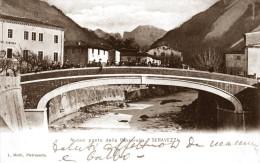 SERAVEZZA (LUCCA) - PONTE DELLA PASSERELLA - FORMATO PICCOLO - VG 1904 - Lucca