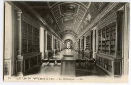 Château De FONTAINEBLEAU - La Bibliothèque - CPA Dos Vert Non écrite - 2 Scans - Fontainebleau