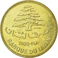Monnaie, Lebanon, 25 Piastres, 1980, FDC, Nickel-brass, KM:E13 - Liban
