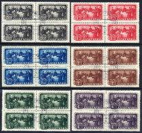 SLOVAKIA 1942 Literary Society Used Blocks Of 4.  Michel 105-10 - Slovakia