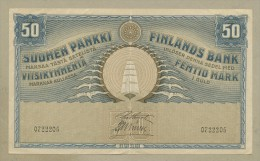 FINLAND - 50 Markkaa  1918  P39 Choice Very Fine+  ( Banknotes ) - Finland