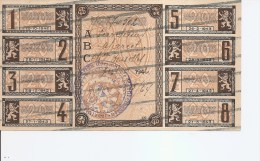Guerre 40/45-Ravitaillement ( Feuille De Coupons De 1942 Annulés à Voir) - WW2