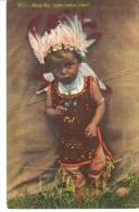 POSTAL   IV-II   HEAP BIG -PEQUEÑO JEFE INDIO  ( LITTLE INDIAN CHIEF ) - América