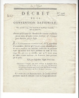 Décret De La Convention Nationale - 14 Août 1793 - Robespierre, Président - Envoi Des Pétitions Par La Poste - Décrets & Lois