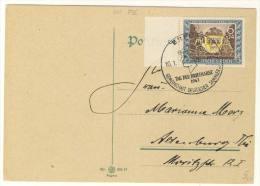 Deutsches Reich Michel No. 828  gestempelt used / FDC Sonderstempel Erfurt Tag der Briefmarke 1943