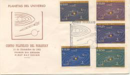 PLANETAS DEL UNIVERSO FDC PARAGUAY AÑO 1962 RARE ASTRONOMIA ASTRONOMY - Covers & Documents