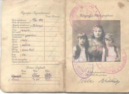 PASSPORT PASSEPORT PASAPORT PASSAPORTO POLOGNE 1930 MADRE Y DOS NIÑOS PASZPORT INMIGRACION A ARGENTINA - Documents Historiques