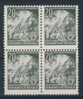 DDR Nr. 370 X I ** postfrisch Viererblock