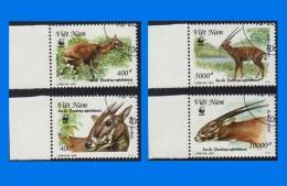 VN 2000-0004, Endangered Species - Sao La, Set Of  4 CTO Stamps - Vietnam