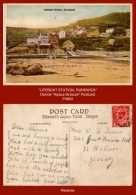 "P4853  ""Lifeboat Station, Runswick""  (c. 1930's. Colour Photogravure Postcard) - England"
