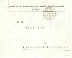 Service D'Etat - Verso Etiquette BX8(Jennekens) - Pas Courant - Guerre 14-18