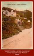 "P4855  ""OLDEST HOUSE & STEPS, RUNSWICK""  (c. 1930's. Colour Photogravure Postcard) - England"