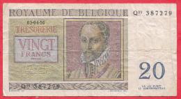 Belgique 20 Francs Du 03/04/1956 état - [ 6] Schatzamt