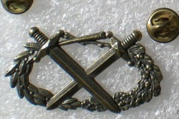 Pin's INSIGNE MILITAIRE Brevet Militaire Professionnel   Couleur Bronze  DRAGO    2 Attaches  P23 - Militari
