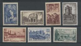 1938 - YVERT N° 388/394 ** SANS CHARNIERE - COTE = 165 EUR. - France