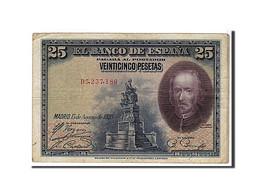 Espagne, 25 Pesetas Type Calderon De La Barca - [ 1] …-1931 : Prime Banconote (Banco De España)