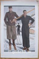 RARE ! Vintage ! Affiche De Mode Homme (ski) - Musée Des Tailleurs N° 4 - Septembre 1935 (Original Provenant D'un Supplé - Affiches