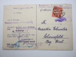 1921 ,  BERLIN      Firmenlochung , Perfin , Beleg - Allemagne